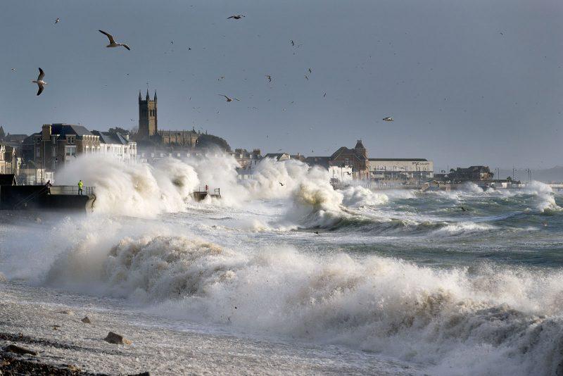 Penzance landscape in a storm