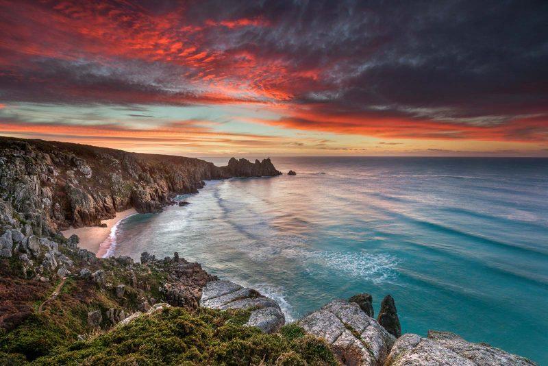 Processed sunset landscape