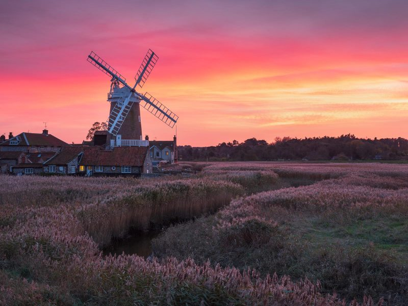 Norfolk windmill landscape