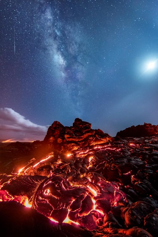 Volcano and milkyway