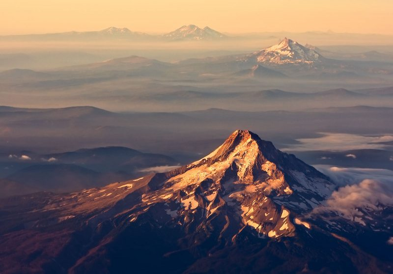 mountain photography from the air