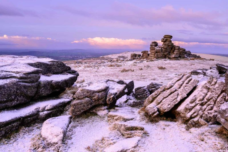 Dartmoor landscape in the snow