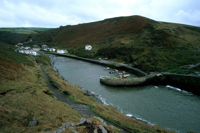 Boscastle landscape on film