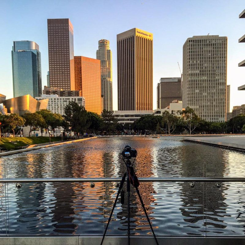Timelapse shooting in a city