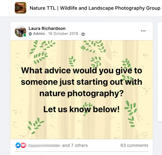 Nature Photography Facebook Group