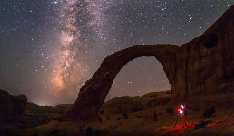 Majestic Milky Way, Corona Arch, Utah, USA.