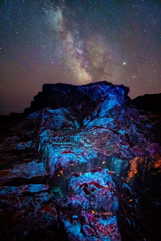 Astro photo with UVIVF lighting