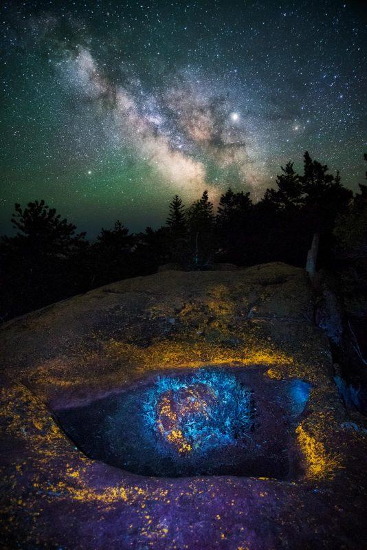 Astro photography with UVIVF lighting