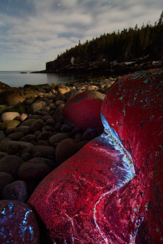coastal landscape with a UV torch
