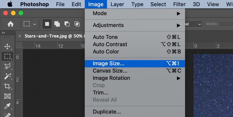 reduce pixel dimensions photoshop