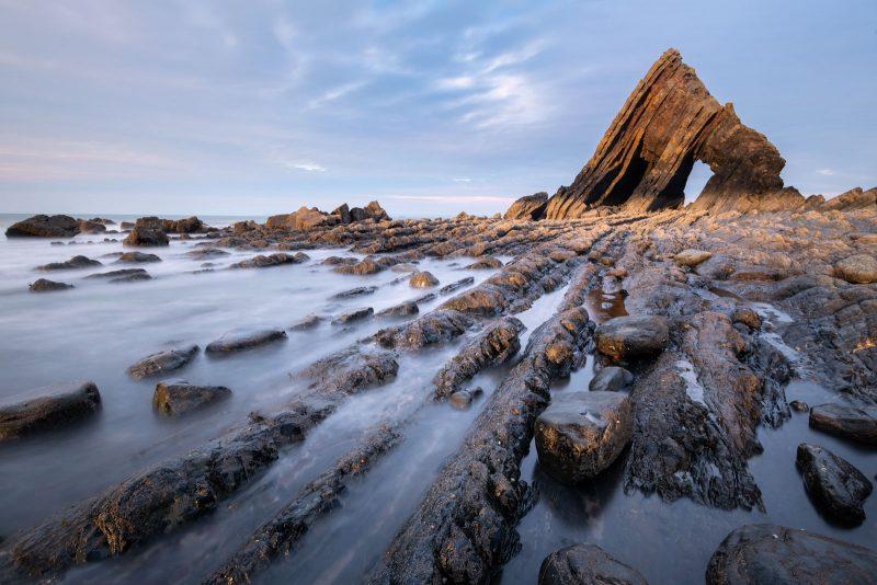 Landscape of Blackchurch Rock in Devon