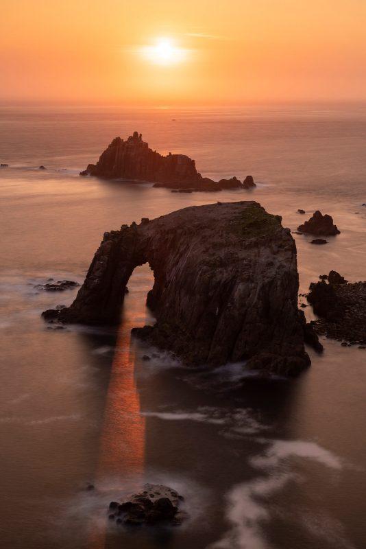 Backlit seascape