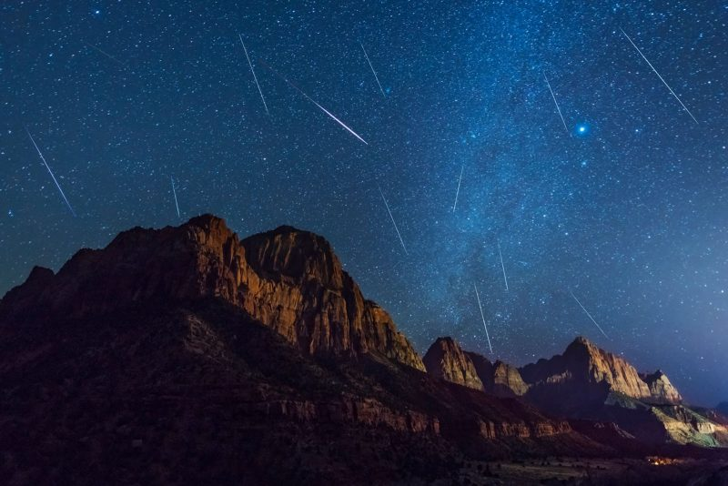 Meteors at Zion National Park