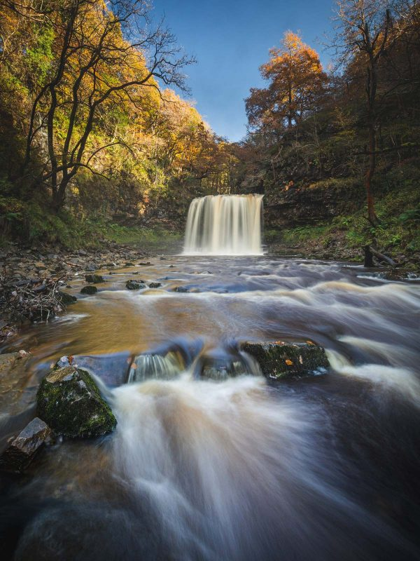 Waterfall at Sgwd y Eira, Brecon Beacons