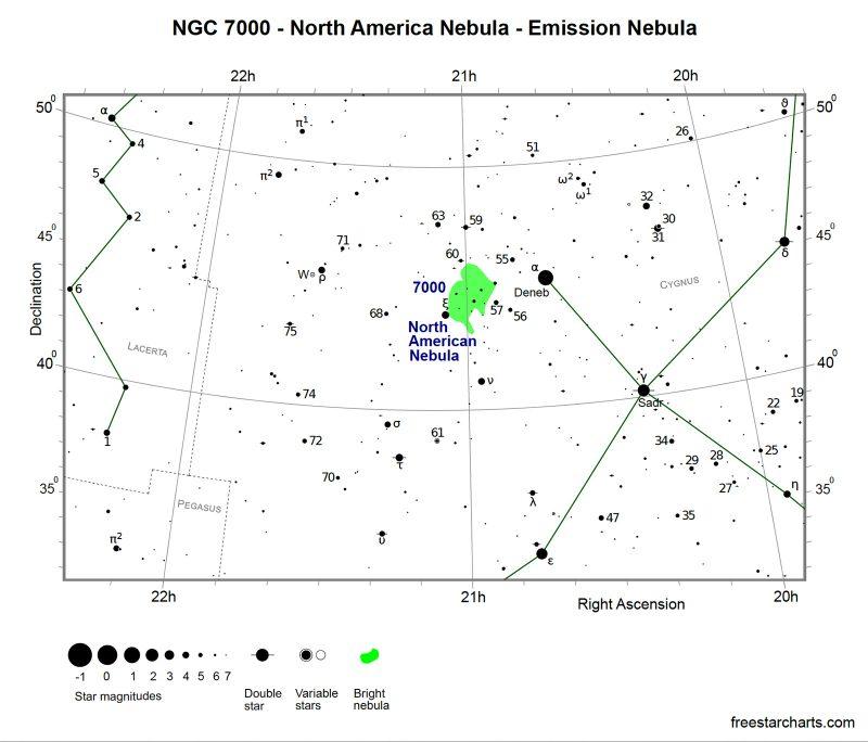 Star Map North America Nebula