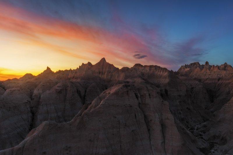 Badlands National Park Sunset