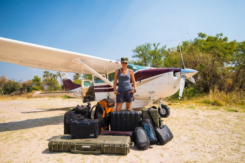 Shannon Wild with plane and gear