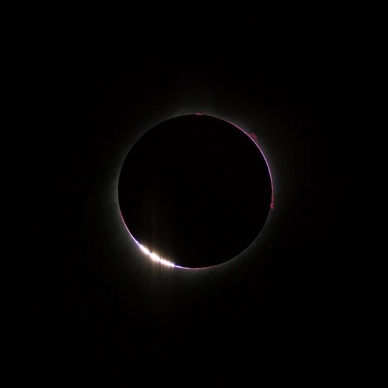 Baily's beads on a solar eclipse