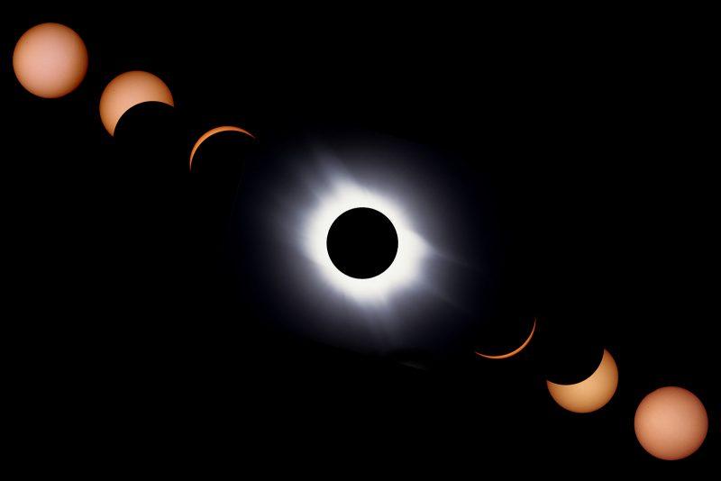 Solar eclipse evolution