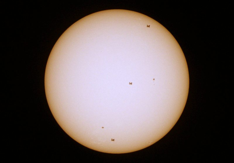 ISS transit across the sun