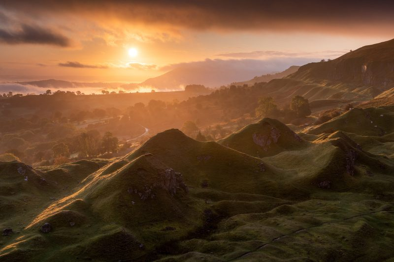 Llangattock landscape by Drew Buckley