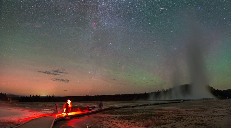 Amateur photographers image the night sky in Yellowstone National Park