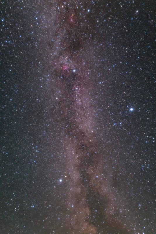 Summer Triangle and Milkyway in Yellowstone