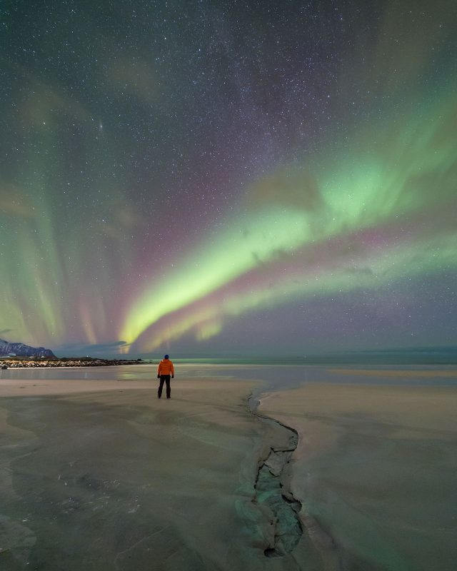 Aurora photographed on a 14mm lens