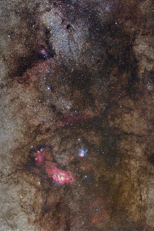 The galactic centre shot through a Canon EF 70-200mm f/2.8L lens.