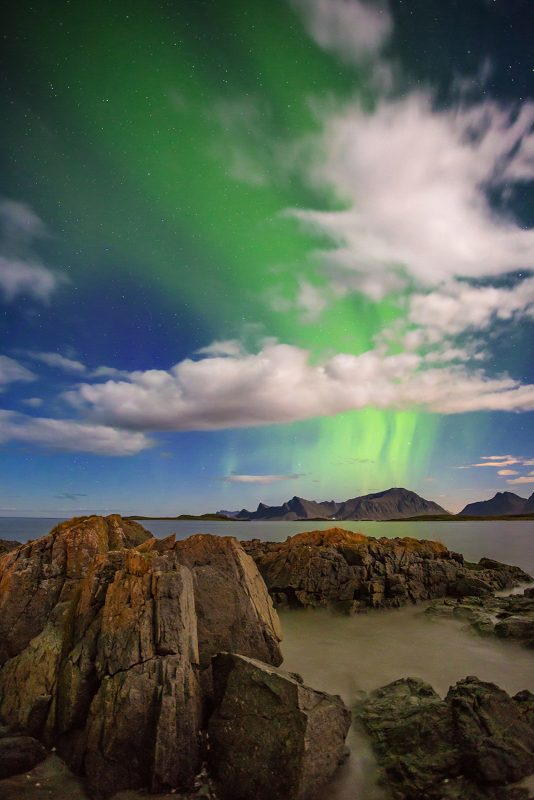 Northern Lights above the sea of Norway