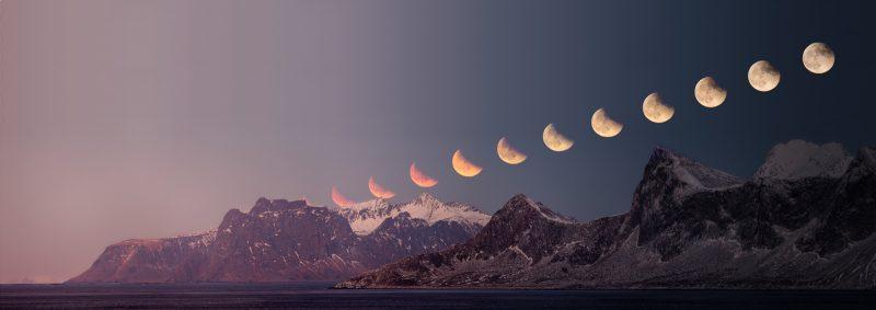 Eclipse moonrise
