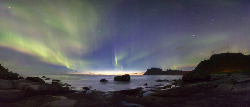 Northern Lights at Uttakleiv in Lofoten