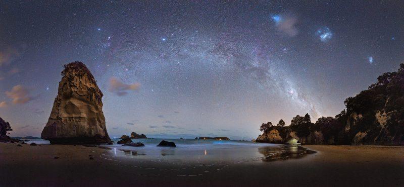 Panorama shot of the Milky Way